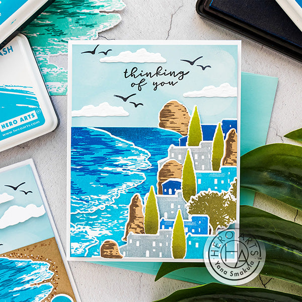 Beach Heroscape Color Layering Cards by Yana Smakula for Hero Arts