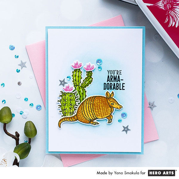 You're Arma-Dorable Card by Yana Smakula for Hero Arts