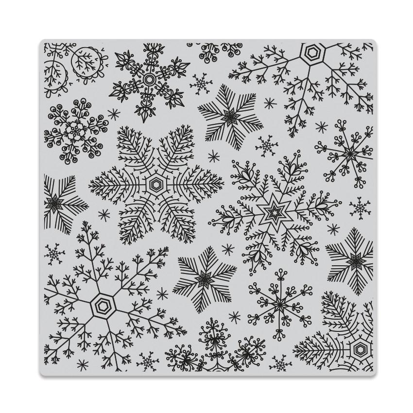 CG685 Hand Drawn Snowflakes Bold Prints