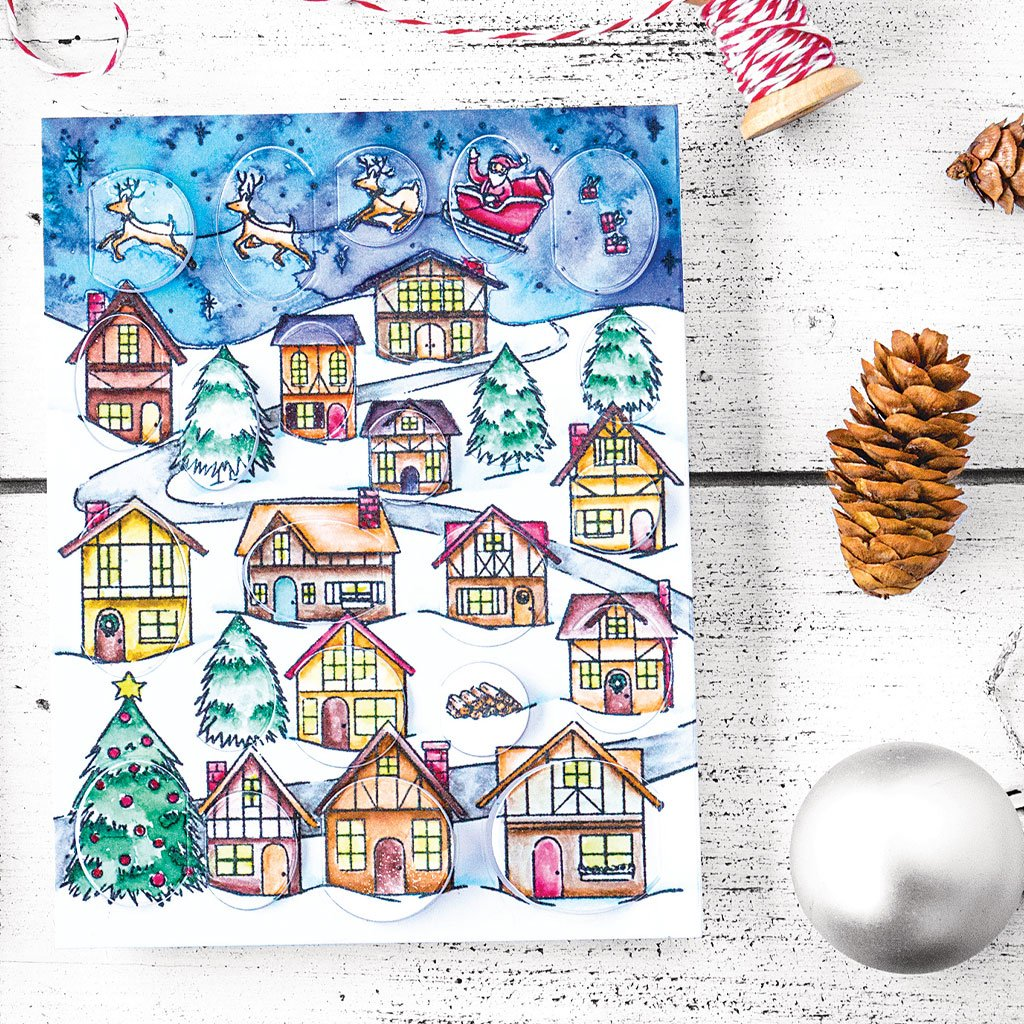 CG784 Winter Village Peek-A-Boo Cling