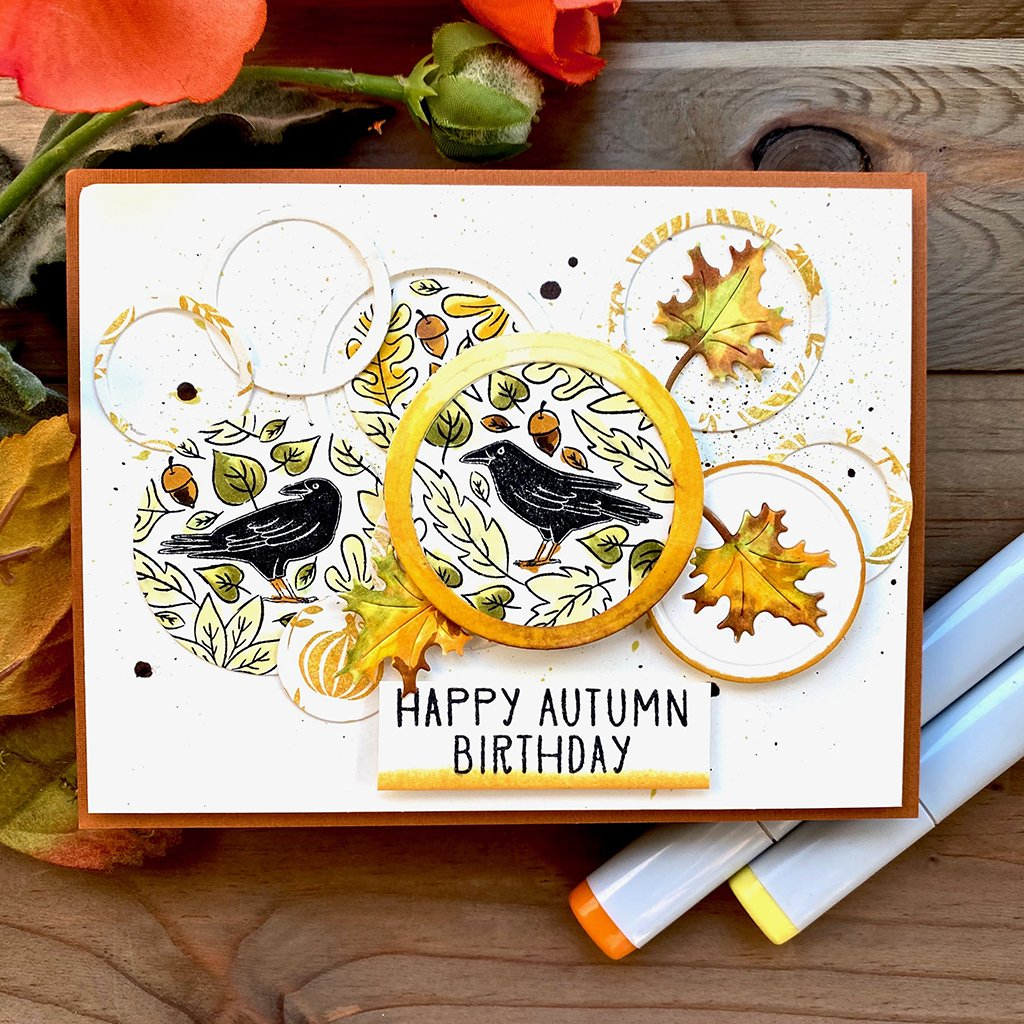 CG821 Crows and Autumn Leaves Bold Prints