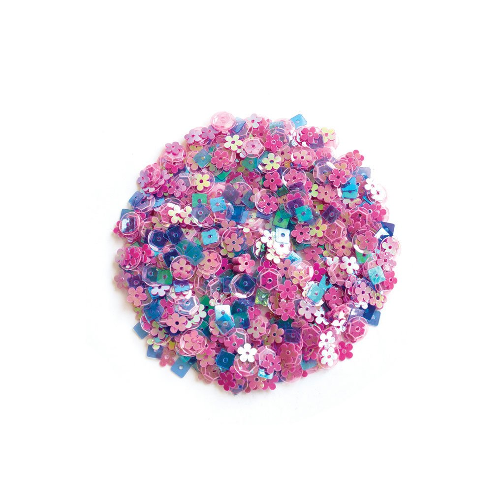 CH312 Pink Pop Flowers Sequin Mix