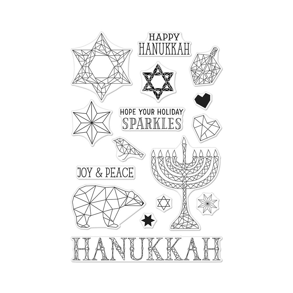 Hero Arts Happy Hanukkah