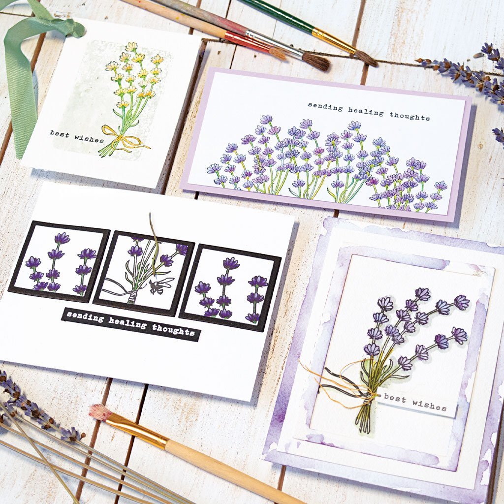 DI727 Hero Florals Lavender Bunch Frame Cuts (B)