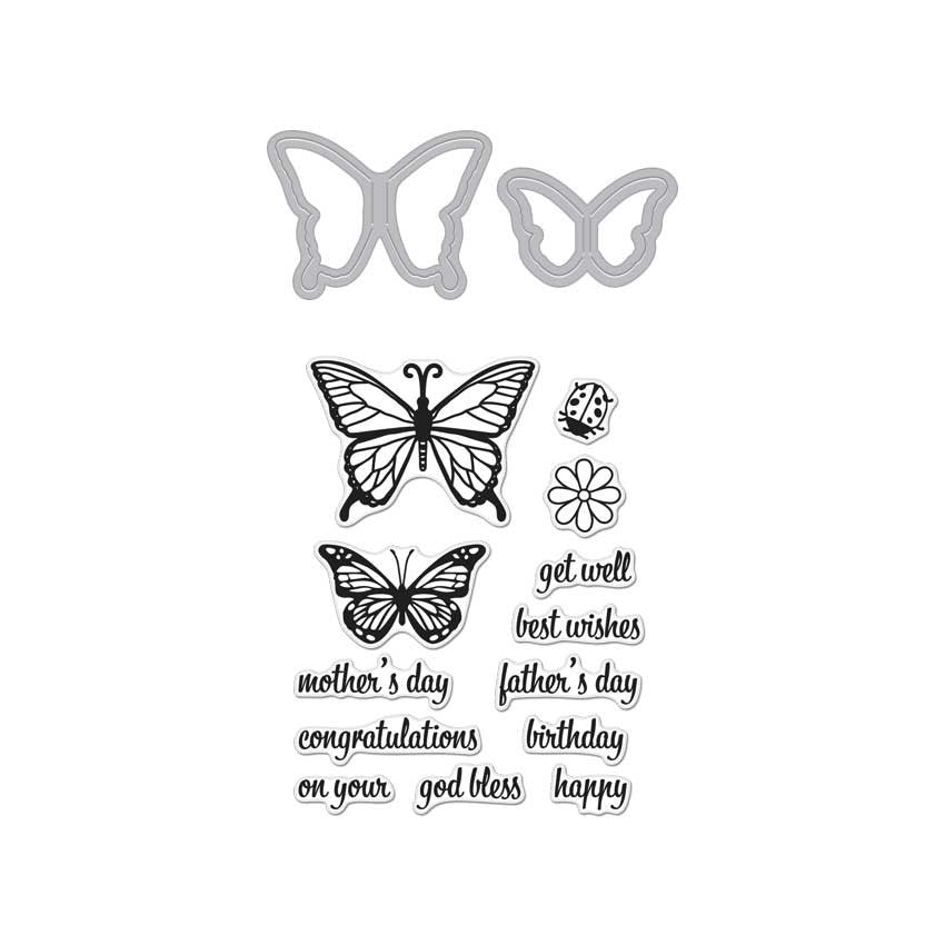 DC182 Butterfly Pair Stamp & Cut