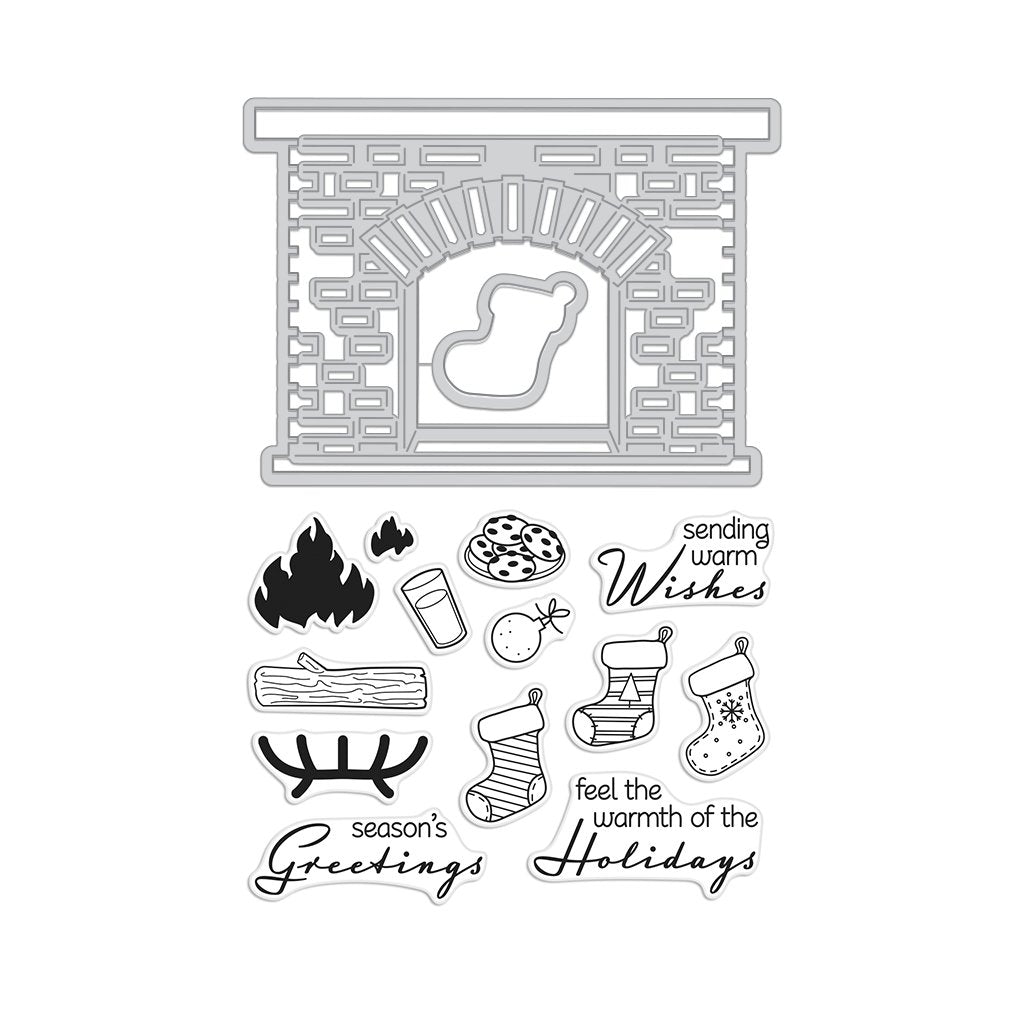 DC221 Winter Hearth Stamp & Cut