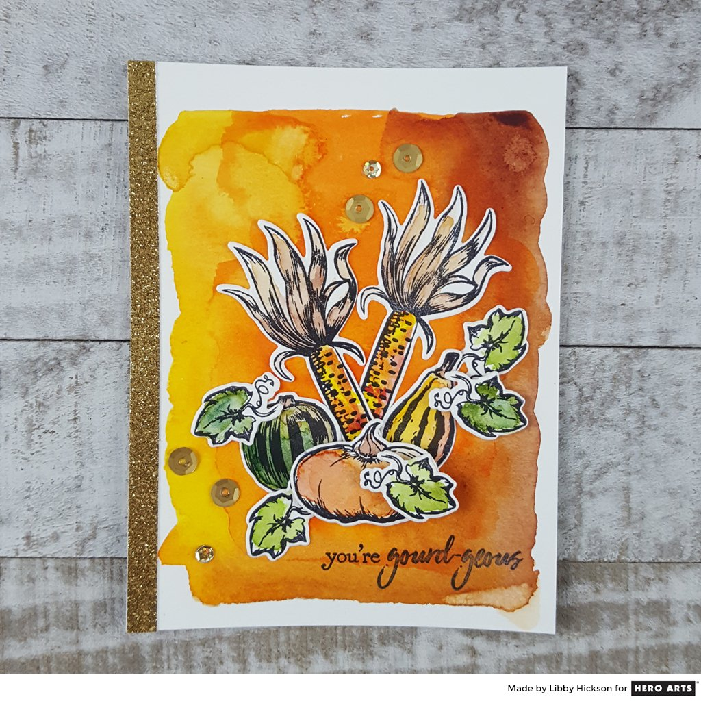 DC244 Autumn Bounty Stamp & Cut