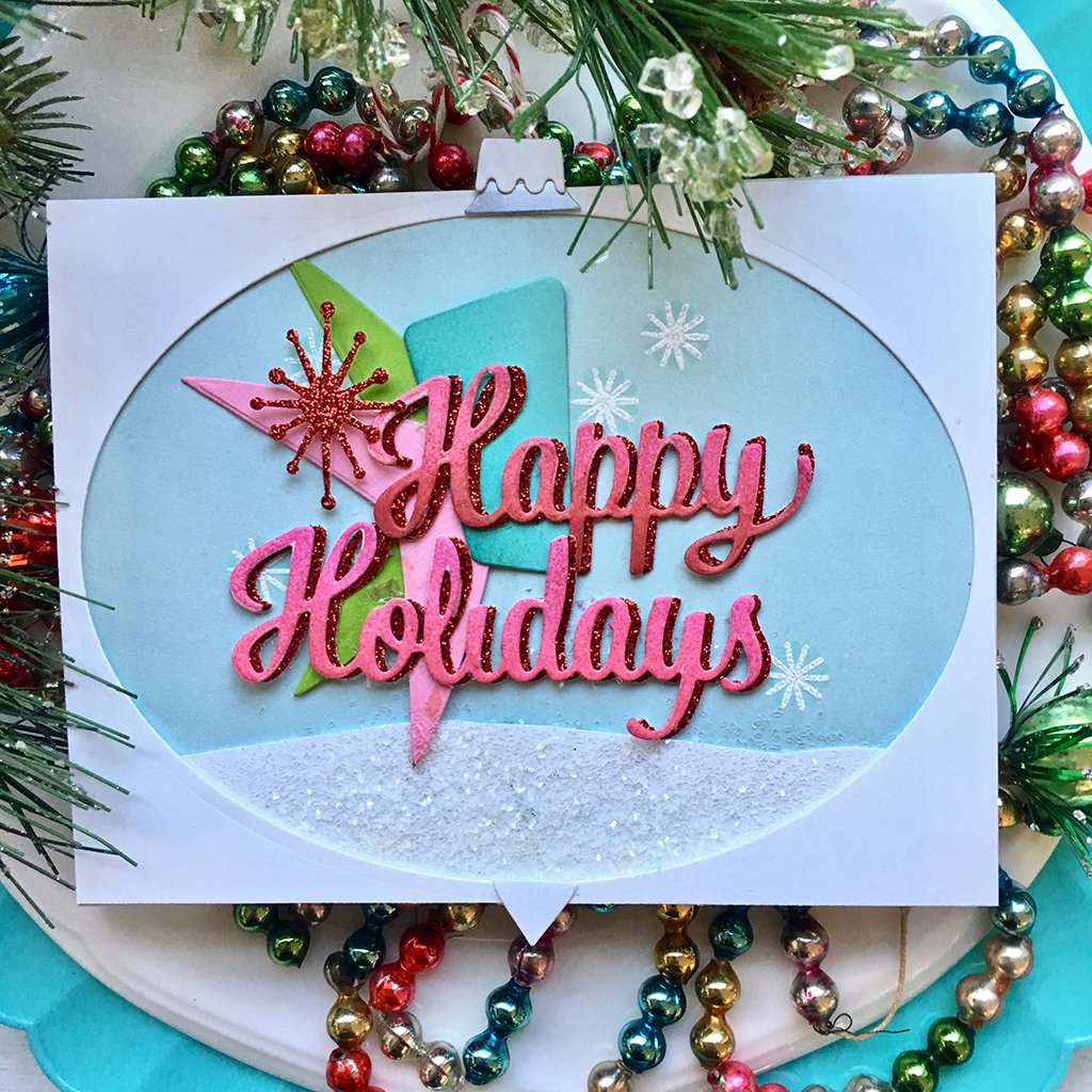 DC269 Happy Holidays Script Stamp & Cut