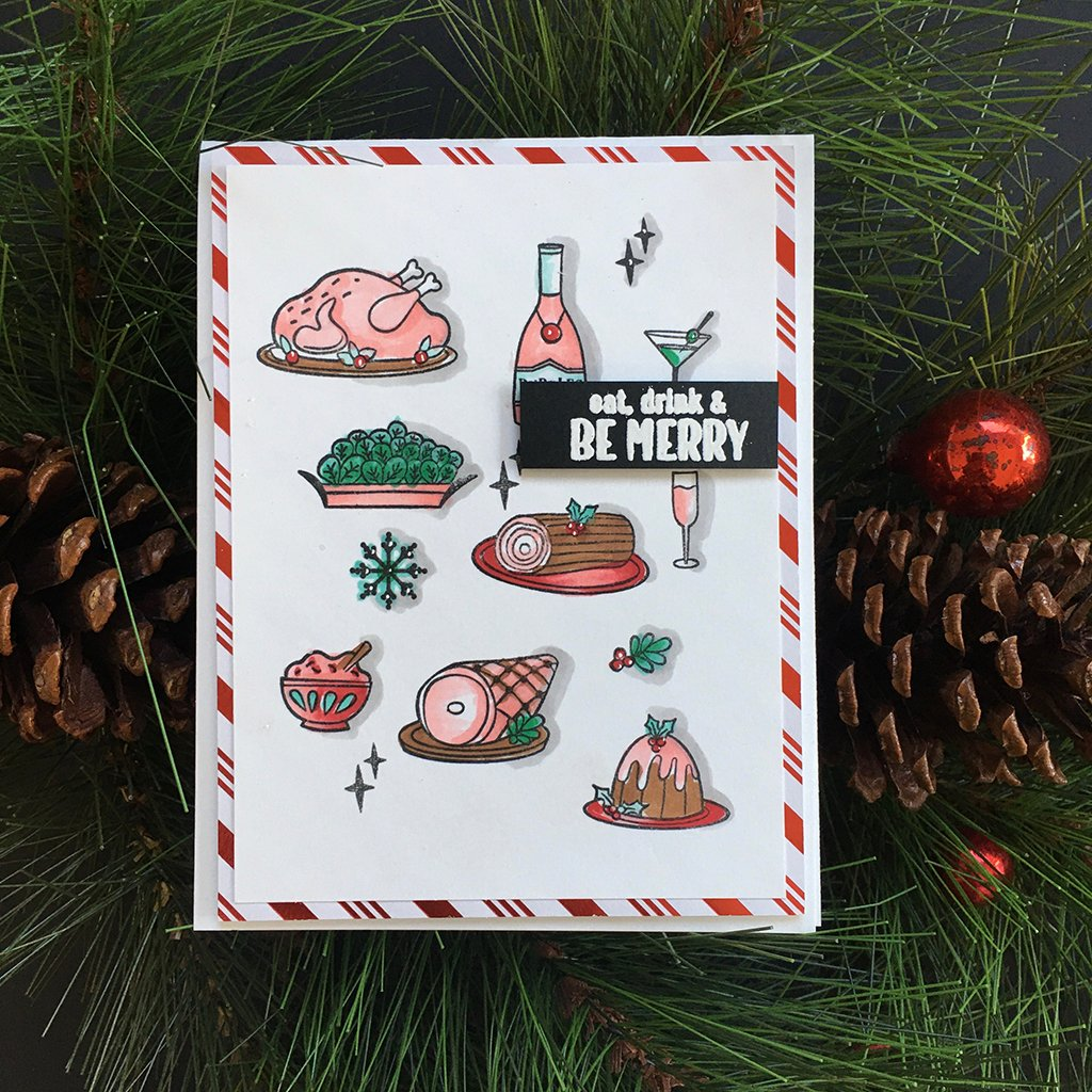 DC271 Holiday Meal Stamp & Cut