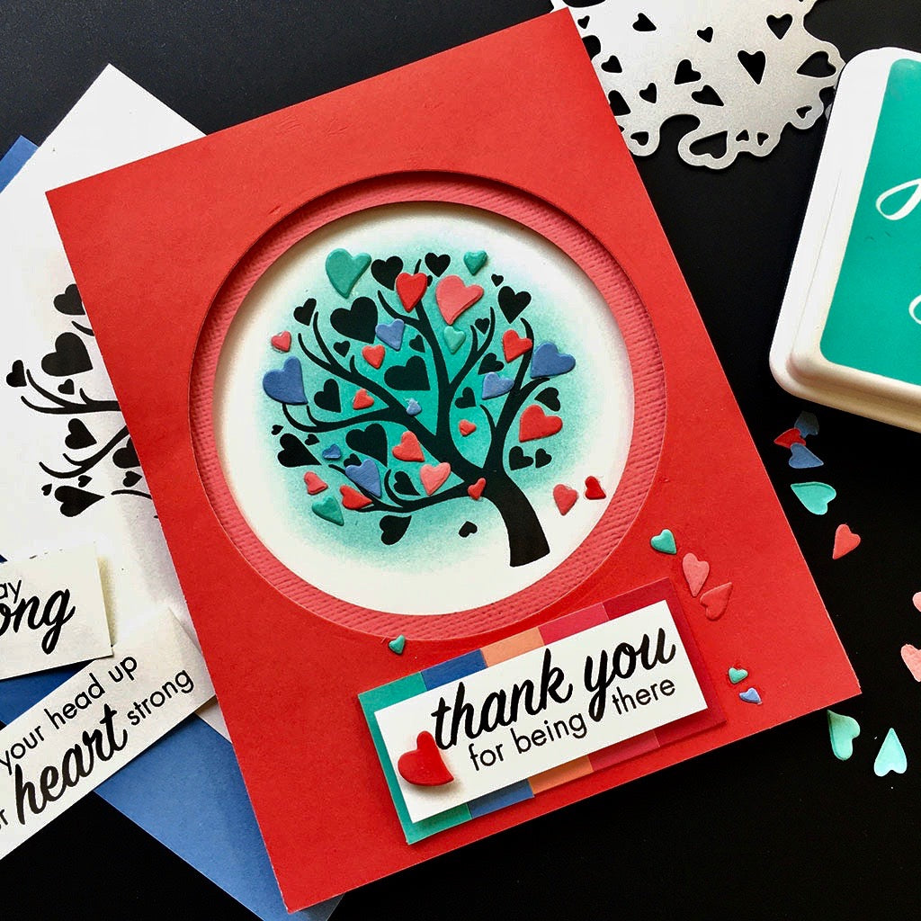 DC278 Heart Tree Stamp & Cut