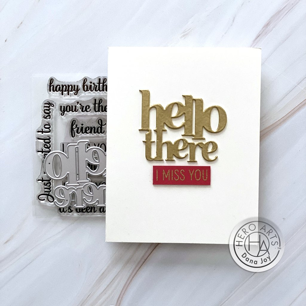 DC284 Hello There Stamp & Cut