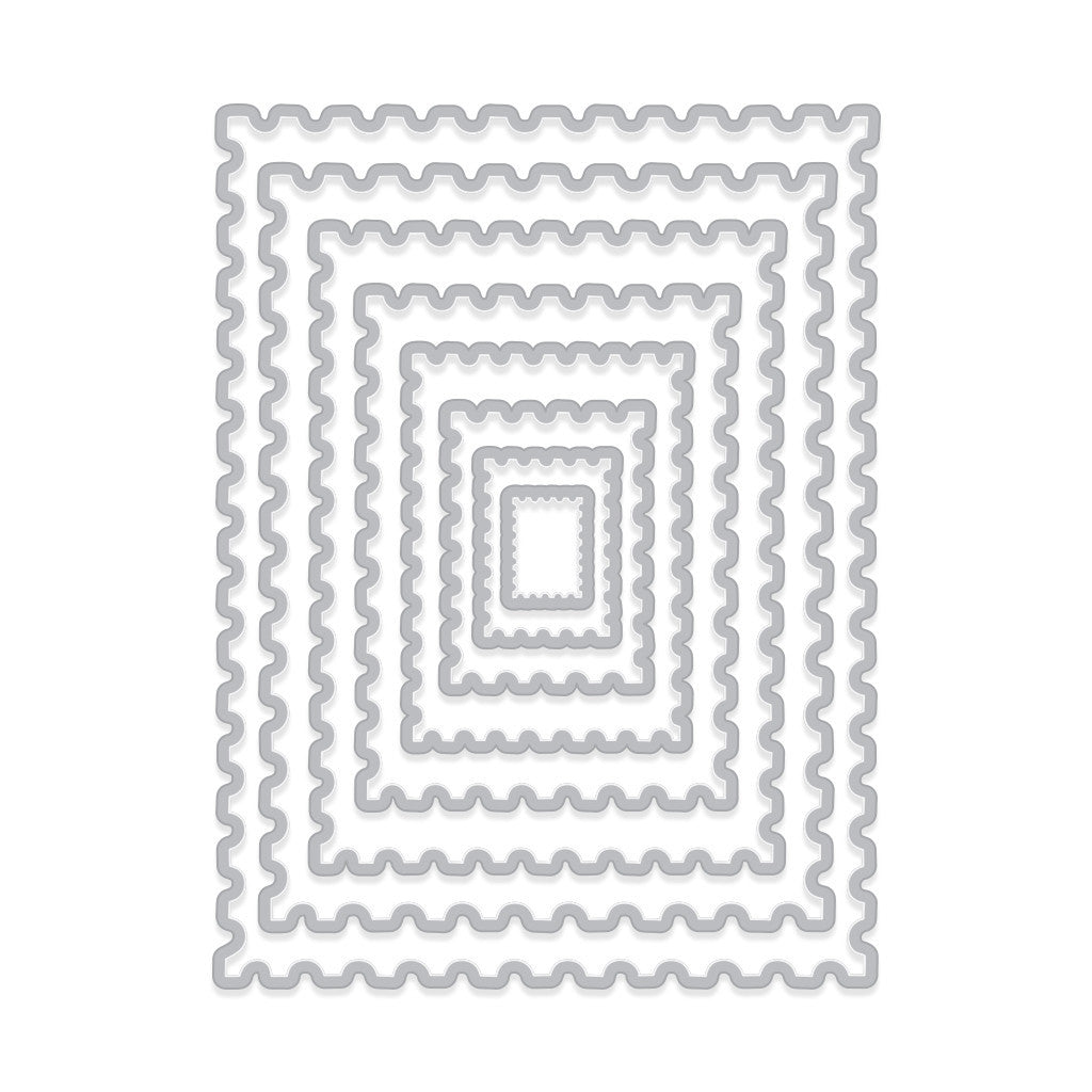 DI345 Nesting Postage Stamps Infinity Dies (H)