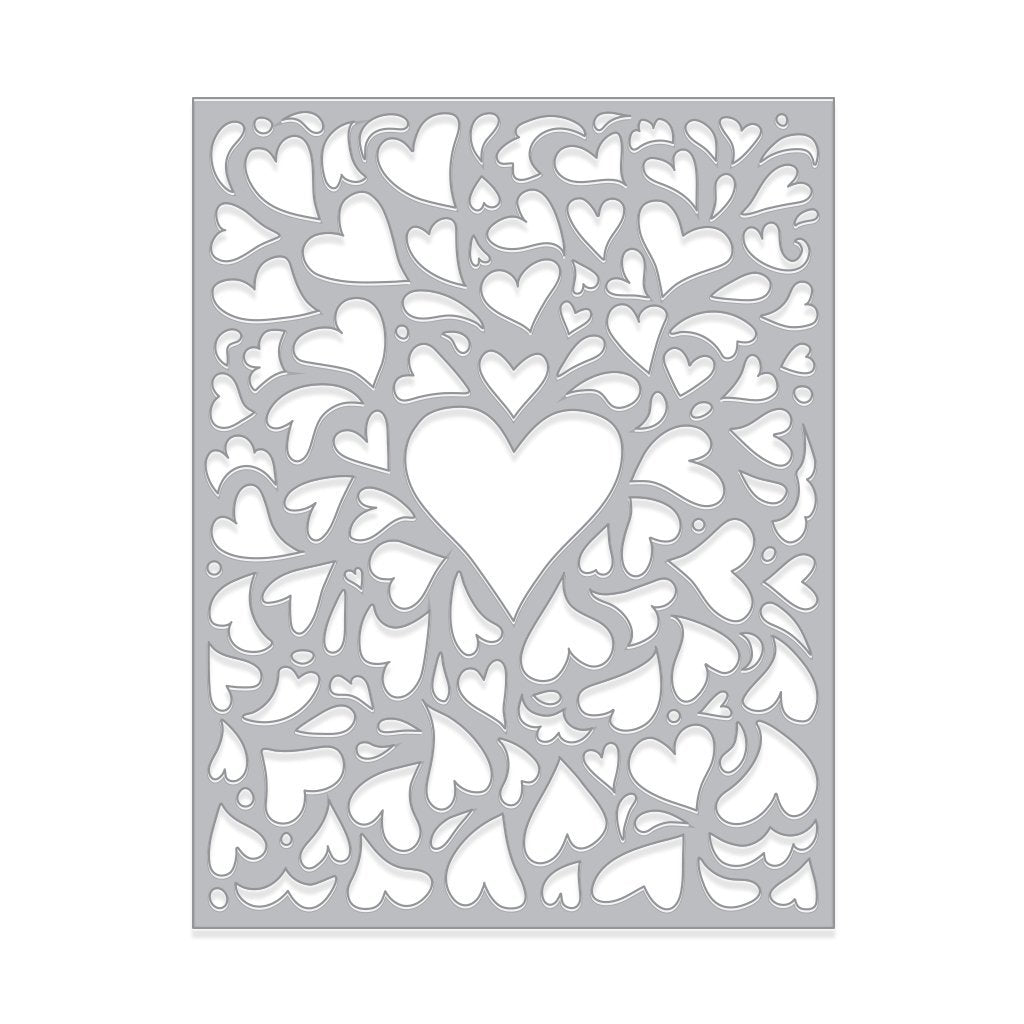 DI483 Window On Love Confetti Fancy Die (F)