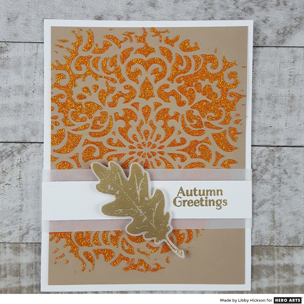 DI569 Textured Leaves Frame Cuts (E)