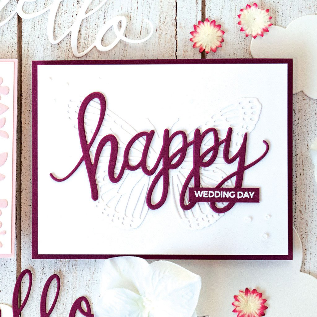 DI587 Happy Message Fancy Die (B)