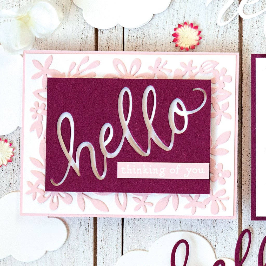 DI589 Hello Message Fancy Die (B)