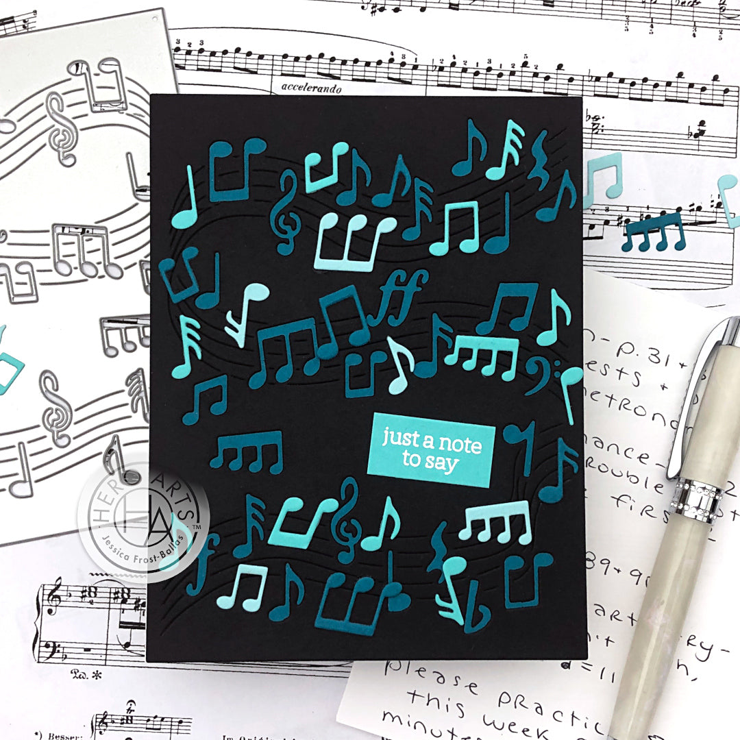 DI621 Dancing Music Notes Confetti Die (F)