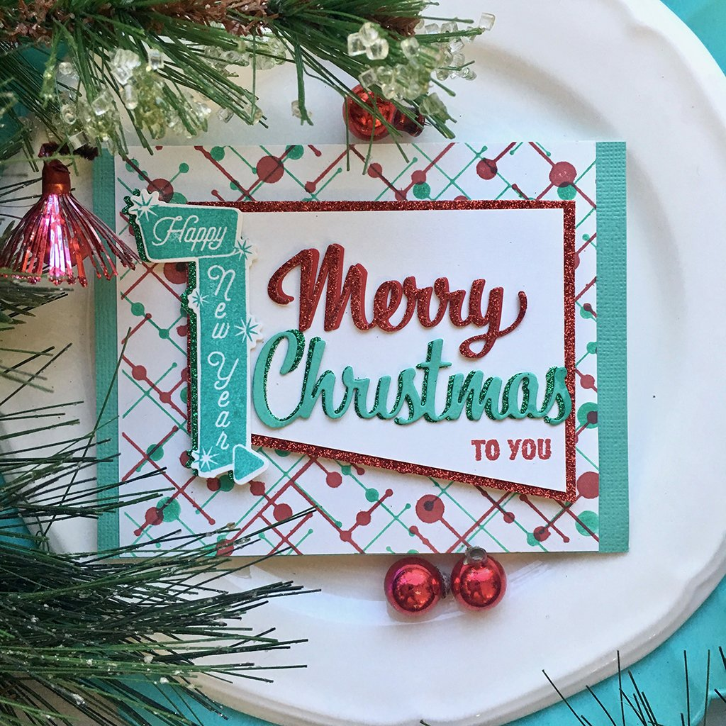 DI698 Retro Christmas Messages Frame Cuts (E)