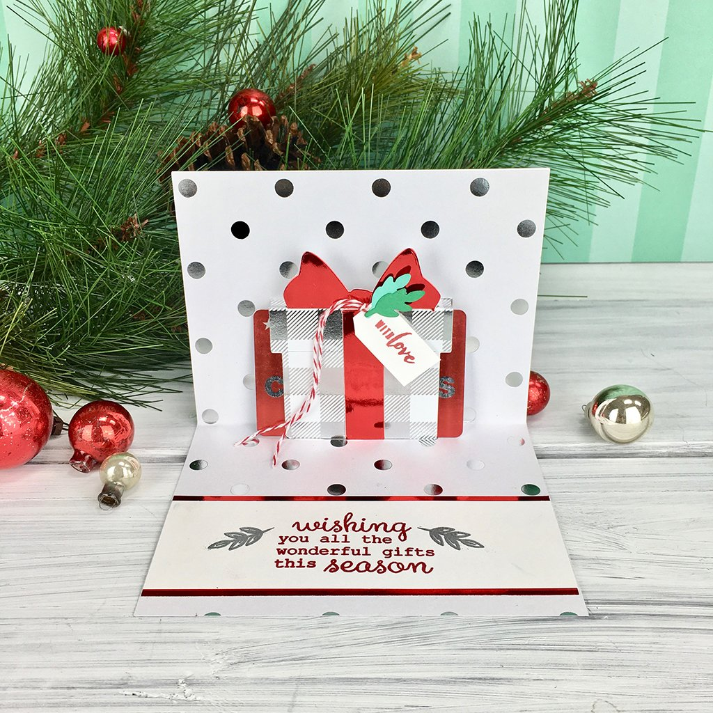DI706 Paper Layering Present Gift Card (SPL) Pop-Up (D)