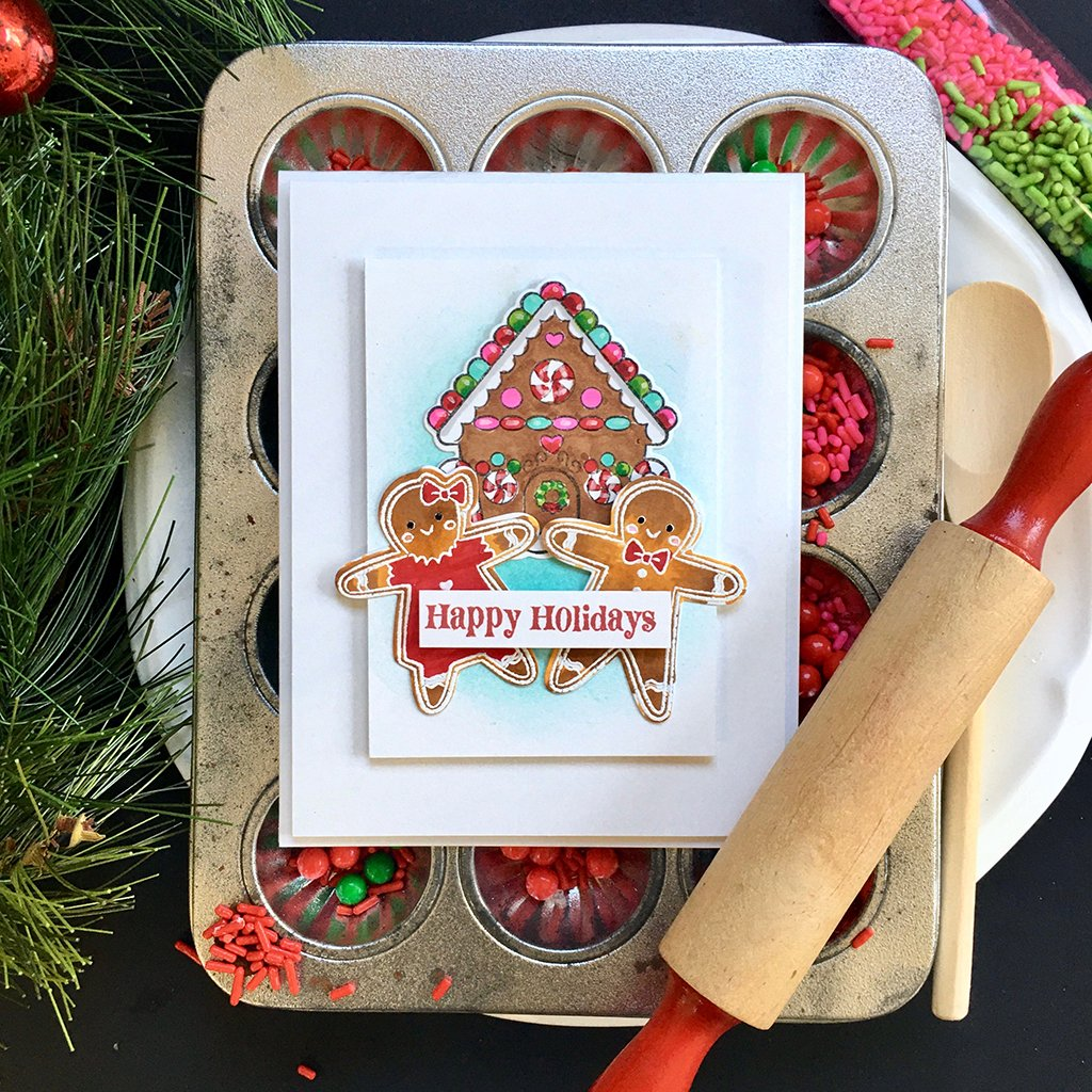 DI710 Christmas Gingerbread Cookies Frame Cuts (C)