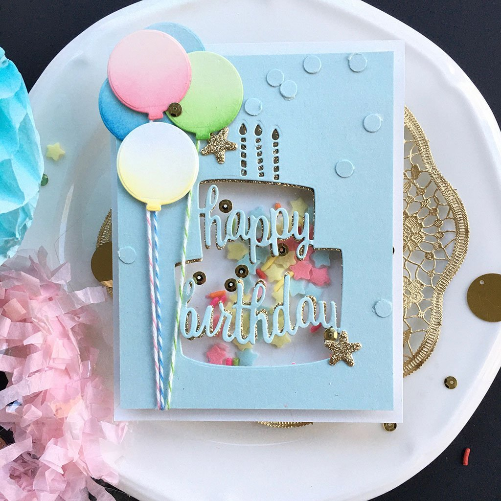 Surprising Di742 Happy Birthday Cake Fancy Die D Hero Arts Funny Birthday Cards Online Aboleapandamsfinfo
