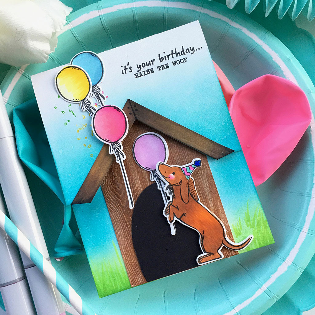 DI743 Birthday Paw-ty Frame Cuts (C)