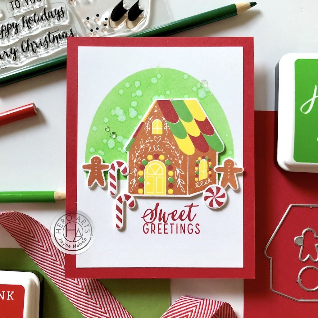 DI796 Color Layering Gingerbread House Frame Cuts (B)