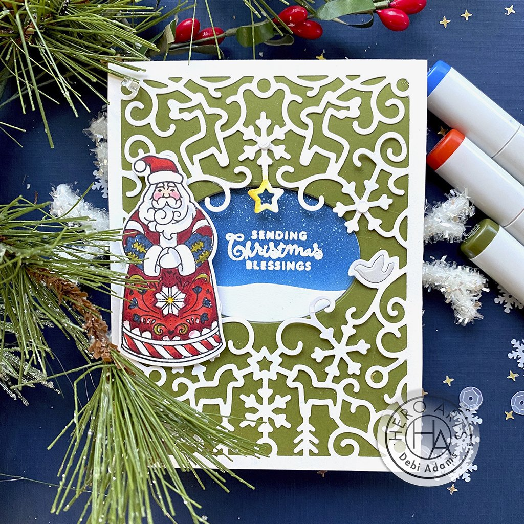 DI824 Christmas Folks Frame Cuts (D)