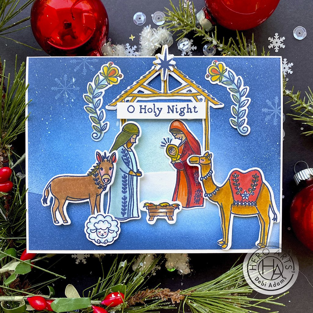 DI826 Floral Nativity Frame Cuts (D)
