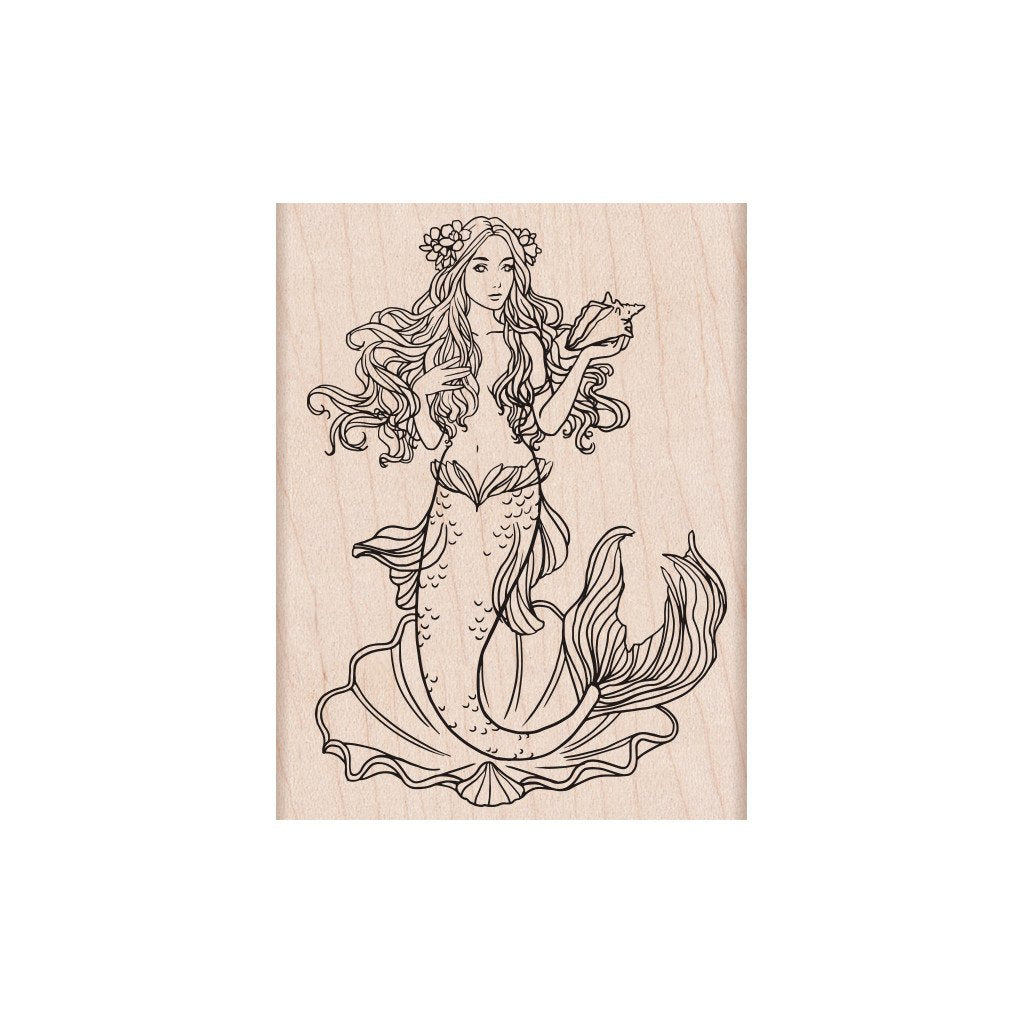 Hero Arts MERMAID Rubber Stamp