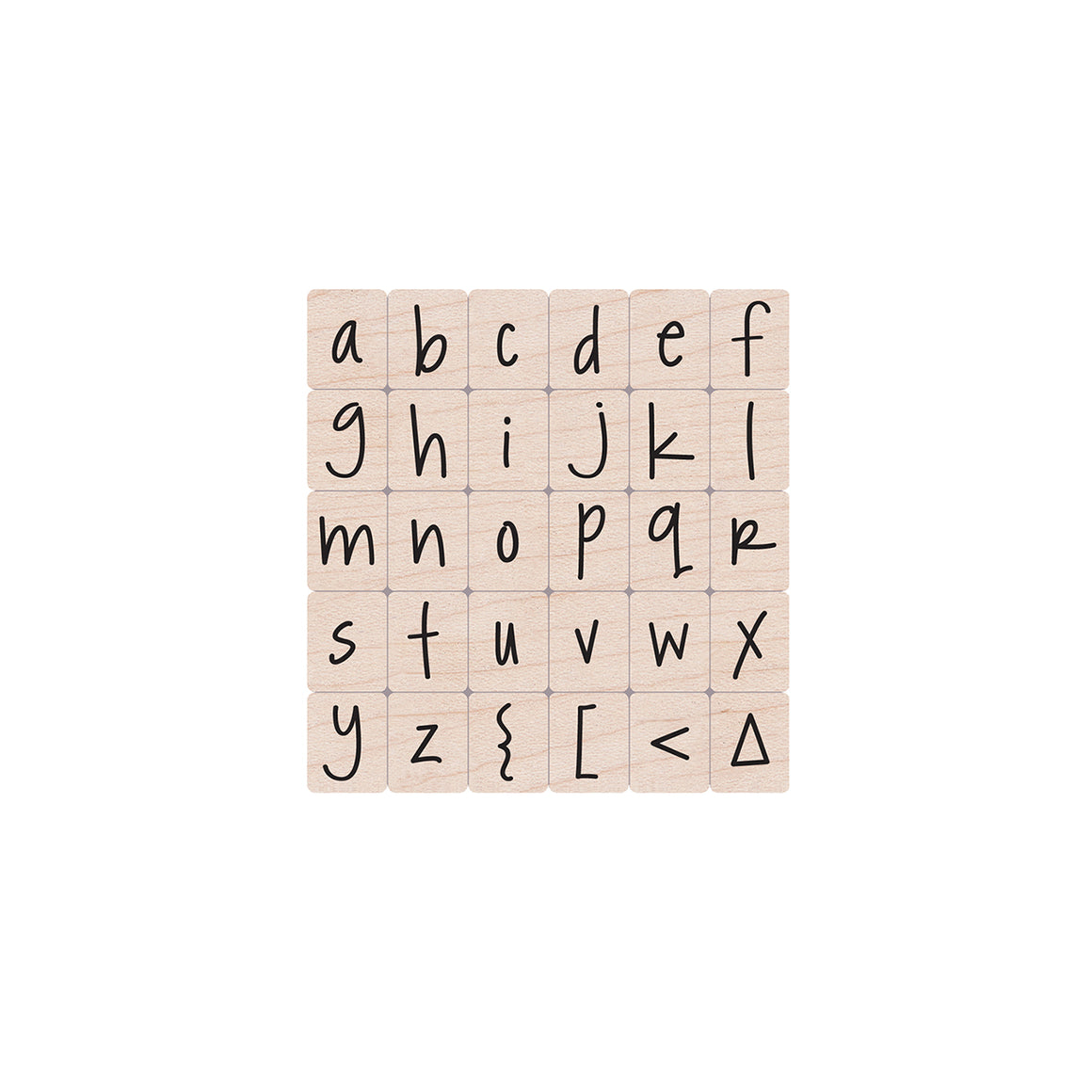 LL244 Happy Lower Case Alphabet