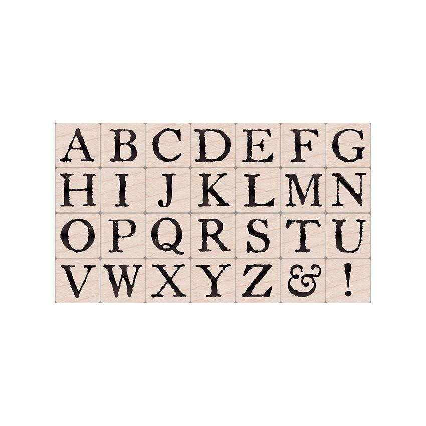 Hero Arts LL929 Woodblock Stamps Legacy Letters