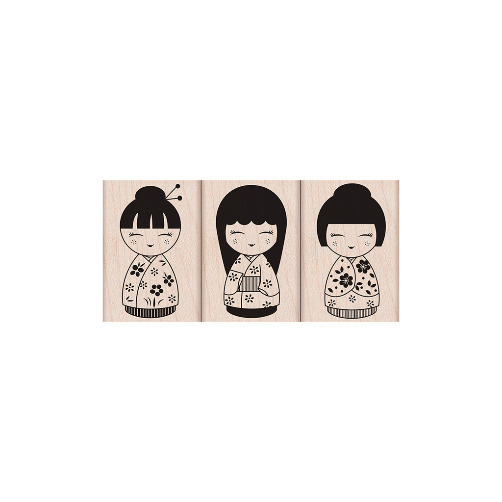 LP126 Three Japanese Dolls