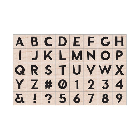 LP455 Modern Uppercase Letters & Numbers