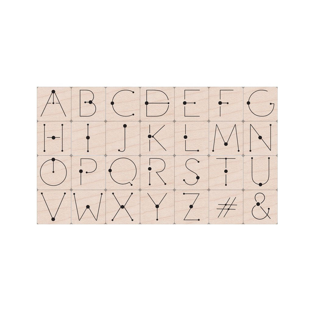 LP485 Modern Dot Alphabet