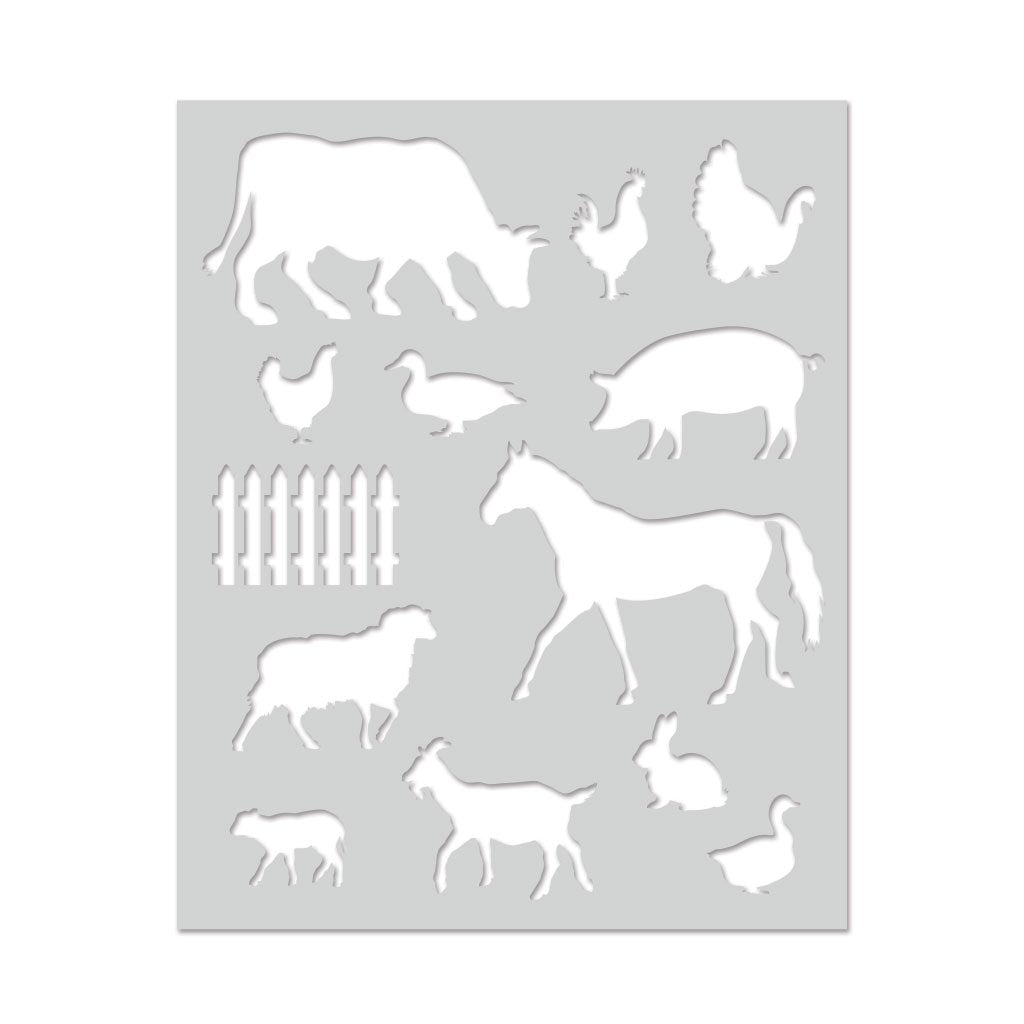 SA129 Farm Animals Stencil