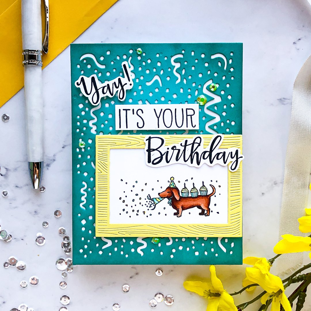 TSV0120 Happy Birthday by The Stamping Village