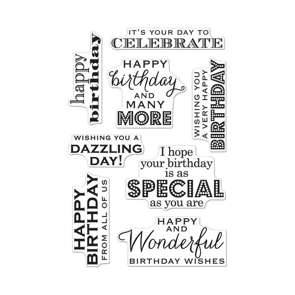 CL611 MANY BIRTHDAY MESSAGES 6X4