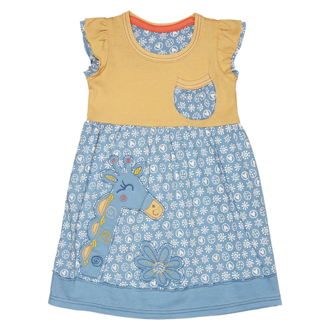 Floral Ethnic Giraffe dress - Kiboko Kids
