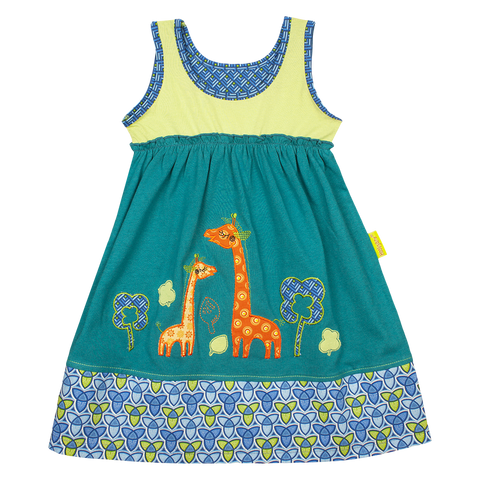 Giraffe Scenic Dress - Kiboko Kids