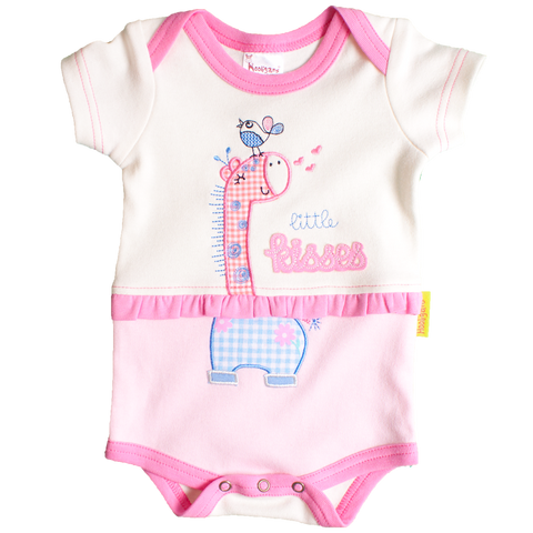 Little Kisses Giraffe Onesie - Kiboko Kids