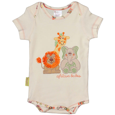 Infant Trio Applique Onesie - Kiboko Kids