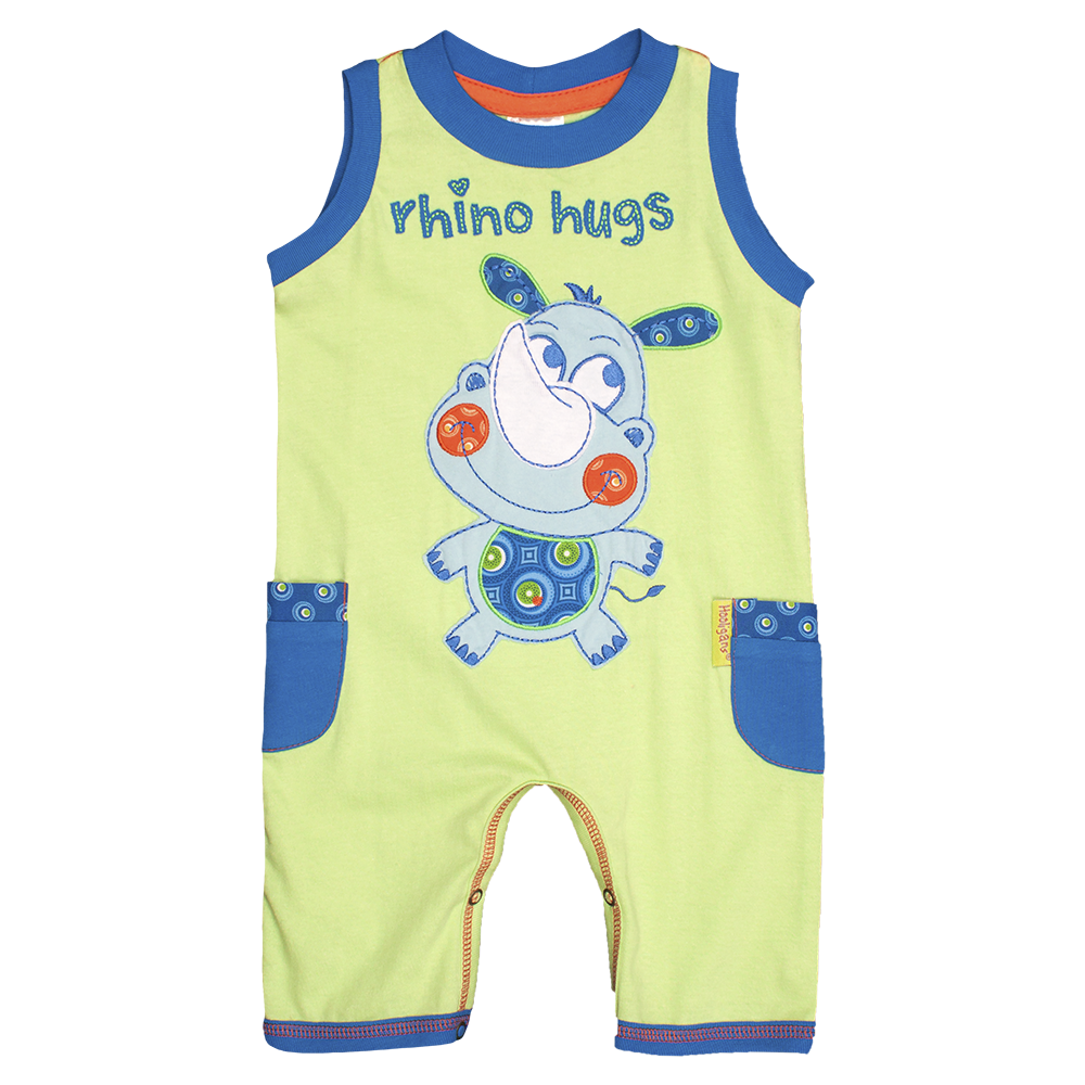 Rhino Hugs play suit - Kiboko Kids