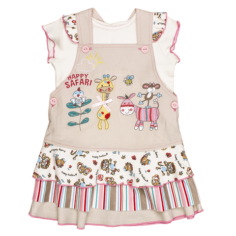 Safari Pinafore Dress - Kiboko Kids
