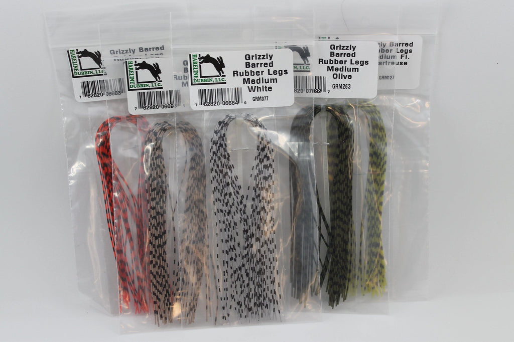 Grizzly Barred Rubber Legs - Big T Fly Fishing