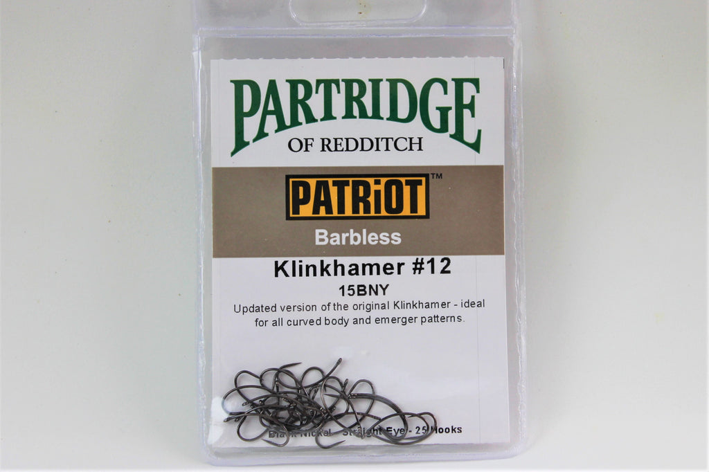 Partridge Barbless Klinkhamer Hook