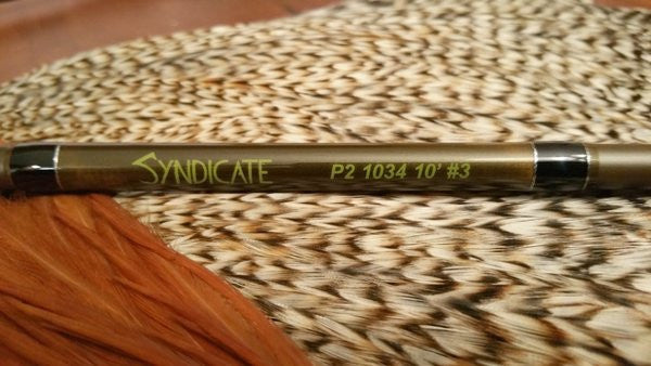 Syndicate 10 foot 3 weight fly rod