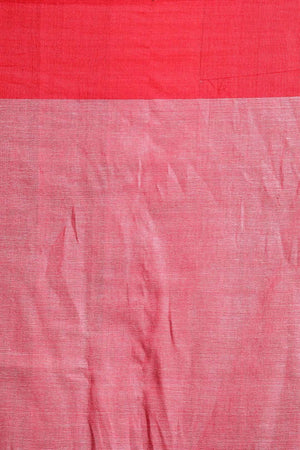 Grey Pure Cotton Saree With Woven Butta