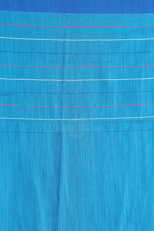 Light Blue Pure Cotton Saree With Thread Stitch