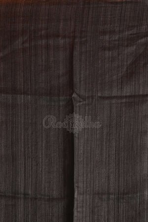 Slate Grey Matka Silk Saree With Woven Design